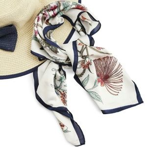 Accessories - Satin Floral Scarf